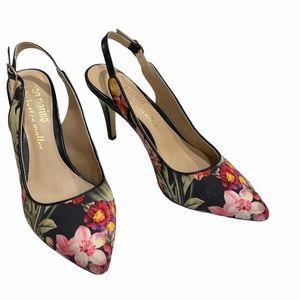 Ann Marino Bettye Muller Floral Slingback Heels
